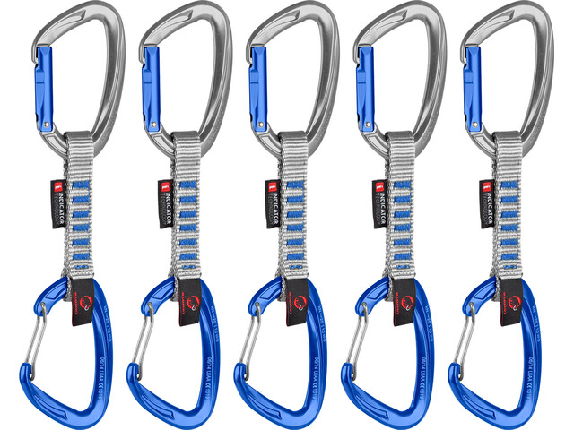 Mammut Crag Indicator Wire Express Set 5 Pack Straight Gate 10cm silver-ultramarine
